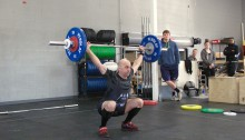 Snatch 71 kg catch